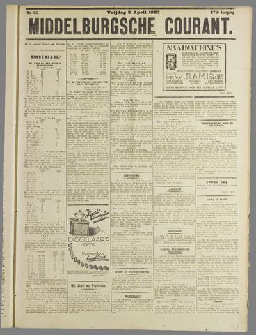 Middelburgsche Courant 1927-04-08
