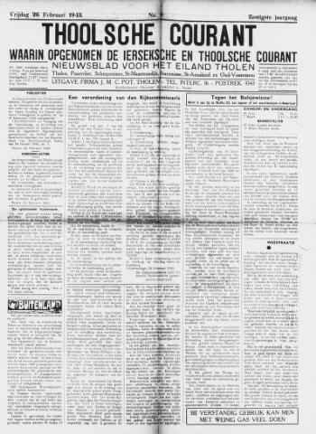 Ierseksche en Thoolsche Courant 1943-02-26