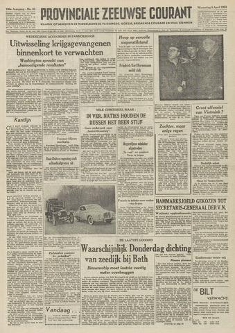 Provinciale Zeeuwse Courant 1953-04-08
