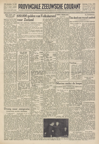 Provinciale Zeeuwse Courant 1946-11-09