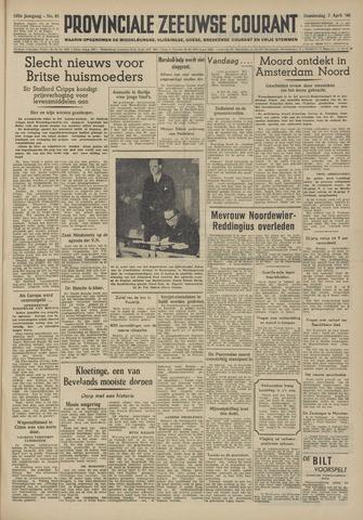 Provinciale Zeeuwse Courant 1949-04-07