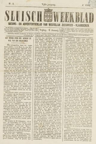 Sluisch Weekblad. Nieuws- en advertentieblad voor Westelijk Zeeuwsch-Vlaanderen 1864-01-08