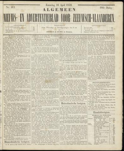 Ter Neuzensche Courant. Algemeen Nieuws- en Advertentieblad voor Zeeuwsch-Vlaanderen / Neuzensche Courant ... (idem) / (Algemeen) nieuws en advertentieblad voor Zeeuwsch-Vlaanderen 1870-04-16