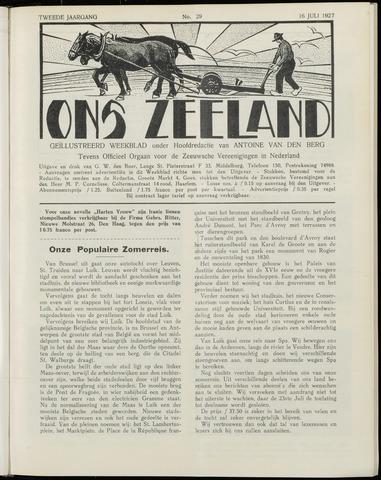 Ons Zeeland / Zeeuwsche editie 1927-07-16