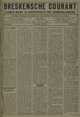 Breskensche Courant 1921-05-04