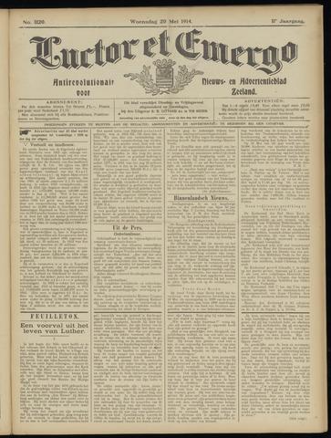 Luctor et Emergo. Antirevolutionair nieuws- en advertentieblad voor Zeeland / Zeeuwsch-Vlaanderen. Orgaan ter verspreiding van de christelijke beginselen in Zeeuwsch-Vlaanderen 1914-05-20