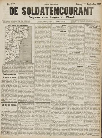 De Soldatencourant. Orgaan voor Leger en Vloot 1916-09-17