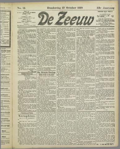 De Zeeuw. Christelijk-historisch nieuwsblad voor Zeeland 1918-10-17