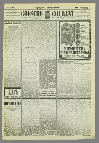 Goessche Courant 1929-10-18