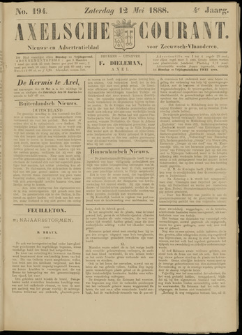 Axelsche Courant 1888-05-12