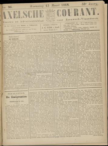 Axelsche Courant 1918-03-13