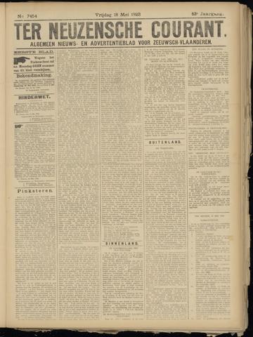 Ter Neuzensche Courant. Algemeen Nieuws- en Advertentieblad voor Zeeuwsch-Vlaanderen / Neuzensche Courant ... (idem) / (Algemeen) nieuws en advertentieblad voor Zeeuwsch-Vlaanderen 1923-05-18