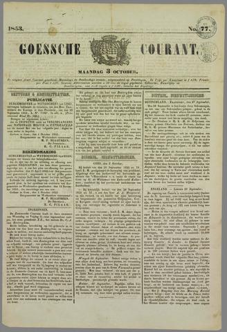 Goessche Courant 1853-10-03