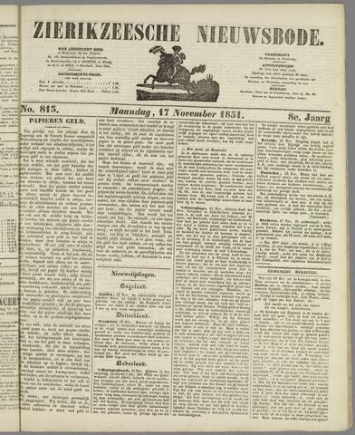 Zierikzeesche Nieuwsbode 1851-11-17