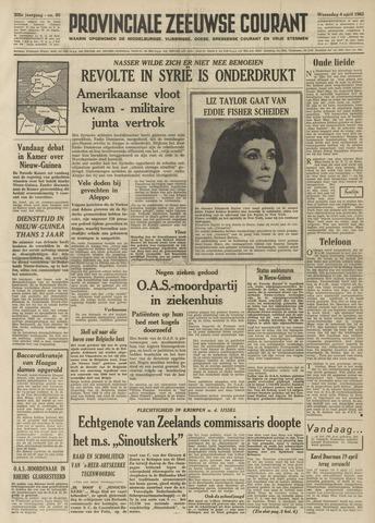 Provinciale Zeeuwse Courant 1962-04-04
