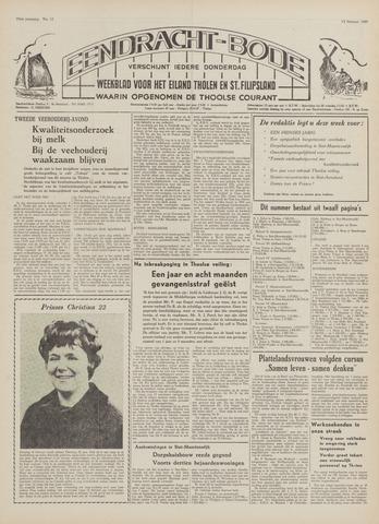 Eendrachtbode (1945-heden)/Mededeelingenblad voor het eiland Tholen (1944/45) 1969-02-13