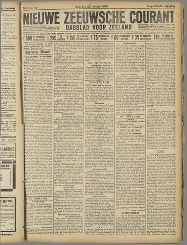 Nieuwe Zeeuwsche Courant 1923-01-20