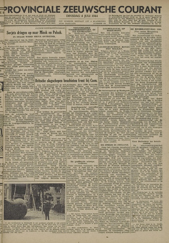 Provinciale Zeeuwse Courant 1944-07-04