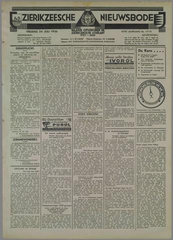Zierikzeesche Nieuwsbode 1936-07-24