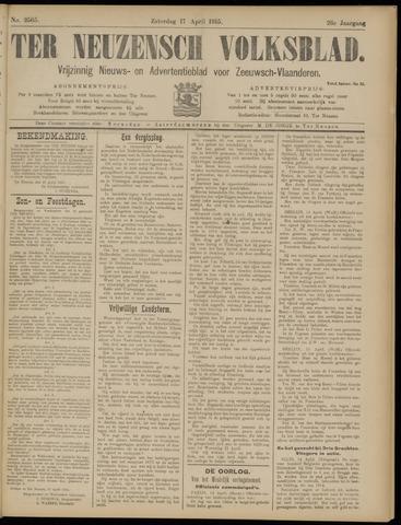 Ter Neuzensch Volksblad. Vrijzinnig nieuws- en advertentieblad voor Zeeuwsch- Vlaanderen / Zeeuwsch Nieuwsblad. Nieuws- en advertentieblad voor Zeeland 1915-04-17