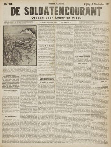De Soldatencourant. Orgaan voor Leger en Vloot 1915-09-03