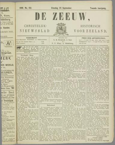 De Zeeuw. Christelijk-historisch nieuwsblad voor Zeeland 1888-09-25