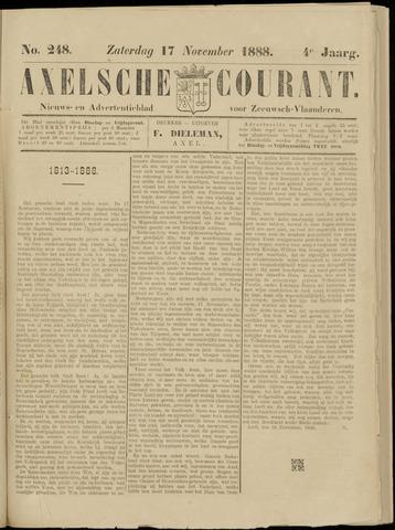 Axelsche Courant 1888-11-17