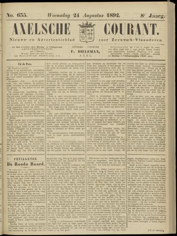 Axelsche Courant 1892-08-24