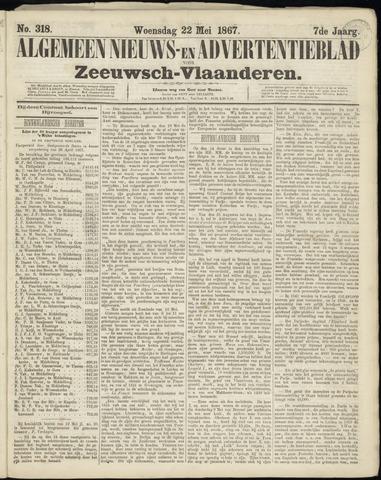 Ter Neuzensche Courant. Algemeen Nieuws- en Advertentieblad voor Zeeuwsch-Vlaanderen / Neuzensche Courant ... (idem) / (Algemeen) nieuws en advertentieblad voor Zeeuwsch-Vlaanderen 1867-05-22