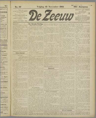 De Zeeuw. Christelijk-historisch nieuwsblad voor Zeeland 1915-11-12