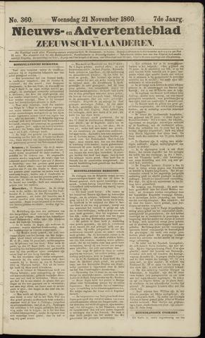 Ter Neuzensche Courant. Algemeen Nieuws- en Advertentieblad voor Zeeuwsch-Vlaanderen / Neuzensche Courant ... (idem) / (Algemeen) nieuws en advertentieblad voor Zeeuwsch-Vlaanderen 1860-11-21