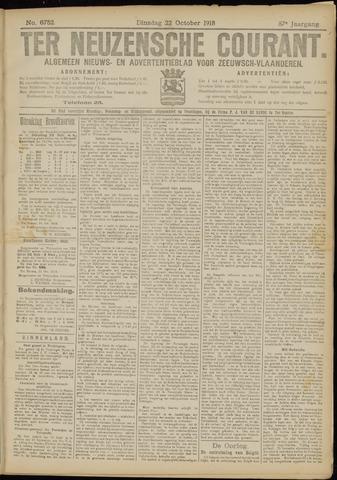 Ter Neuzensche Courant. Algemeen Nieuws- en Advertentieblad voor Zeeuwsch-Vlaanderen / Neuzensche Courant ... (idem) / (Algemeen) nieuws en advertentieblad voor Zeeuwsch-Vlaanderen 1918-10-22