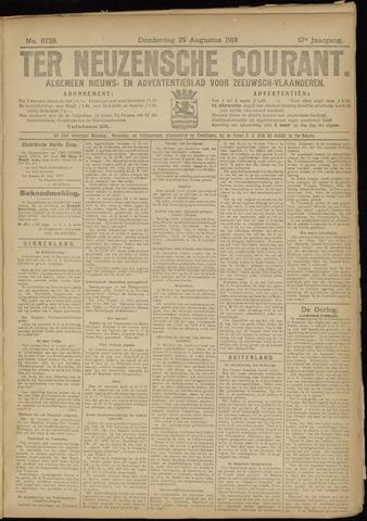 Ter Neuzensche Courant. Algemeen Nieuws- en Advertentieblad voor Zeeuwsch-Vlaanderen / Neuzensche Courant ... (idem) / (Algemeen) nieuws en advertentieblad voor Zeeuwsch-Vlaanderen 1918-08-29