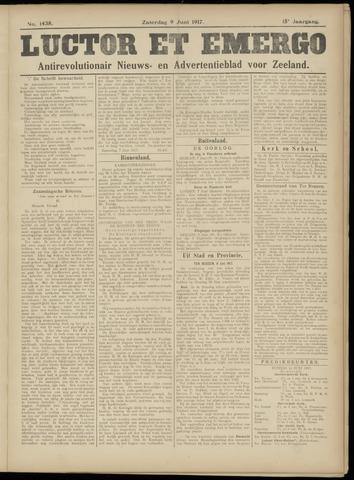Luctor et Emergo. Antirevolutionair nieuws- en advertentieblad voor Zeeland / Zeeuwsch-Vlaanderen. Orgaan ter verspreiding van de christelijke beginselen in Zeeuwsch-Vlaanderen 1917-06-09