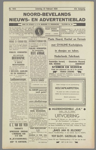 Noord-Bevelands Nieuws- en advertentieblad 1936-02-22