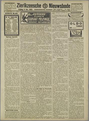 Zierikzeesche Nieuwsbode 1922-10-06