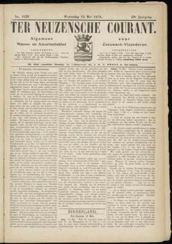 Ter Neuzensche Courant. Algemeen Nieuws- en Advertentieblad voor Zeeuwsch-Vlaanderen / Neuzensche Courant ... (idem) / (Algemeen) nieuws en advertentieblad voor Zeeuwsch-Vlaanderen 1879-05-14