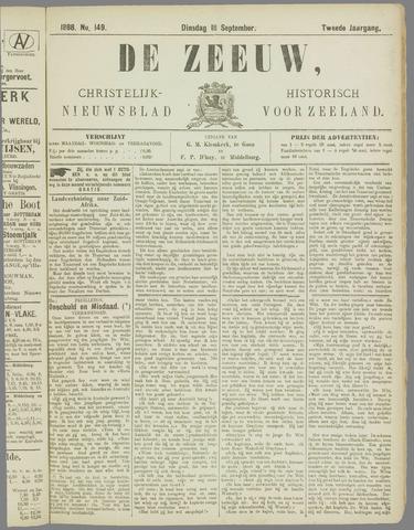 De Zeeuw. Christelijk-historisch nieuwsblad voor Zeeland 1888-09-18