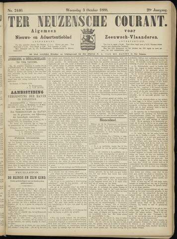 Ter Neuzensche Courant. Algemeen Nieuws- en Advertentieblad voor Zeeuwsch-Vlaanderen / Neuzensche Courant ... (idem) / (Algemeen) nieuws en advertentieblad voor Zeeuwsch-Vlaanderen 1888-10-03