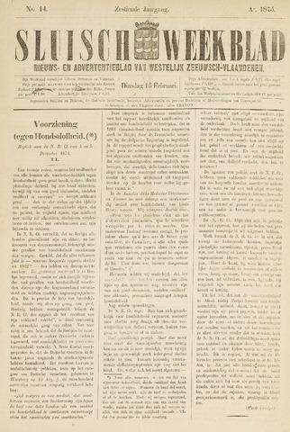 Sluisch Weekblad. Nieuws- en advertentieblad voor Westelijk Zeeuwsch-Vlaanderen 1875-02-16