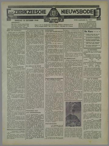 Zierikzeesche Nieuwsbode 1940-10-15