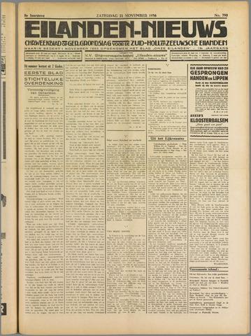 Eilanden-nieuws. Christelijk streekblad op gereformeerde grondslag 1936-11-21