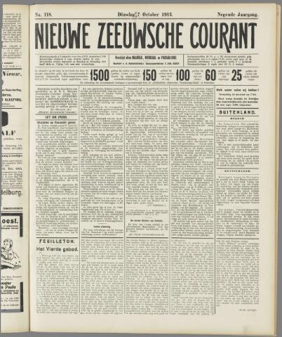 Nieuwe Zeeuwsche Courant 1913-10-07