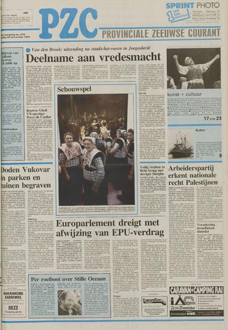 Provinciale Zeeuwse Courant 1991-11-22