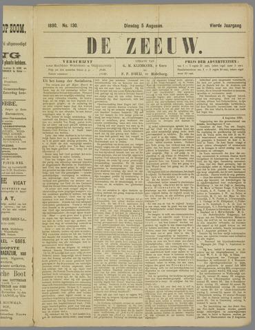 De Zeeuw. Christelijk-historisch nieuwsblad voor Zeeland 1890-08-05