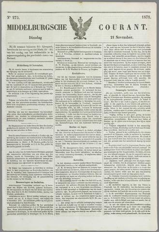 Middelburgsche Courant 1871-11-21