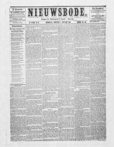Sheboygan Nieuwsbode 1860