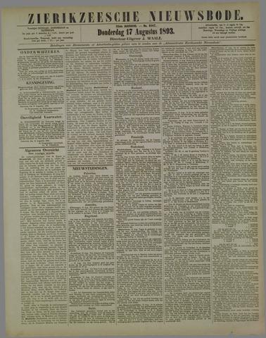 Zierikzeesche Nieuwsbode 1893-08-17