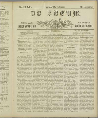 De Zeeuw. Christelijk-historisch nieuwsblad voor Zeeland 1901-02-22