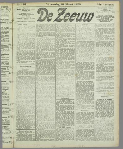 De Zeeuw. Christelijk-historisch nieuwsblad voor Zeeland 1920-03-10